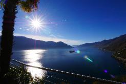Rundblick über den Lago Maggiore und die Brissago-Inseln