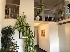 Blick zum Galeriegeschoss