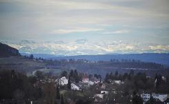 Blick bis in die Berge