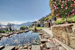 Mediterrane Villa in Brissago mit Traumgarten und 180° Seesicht